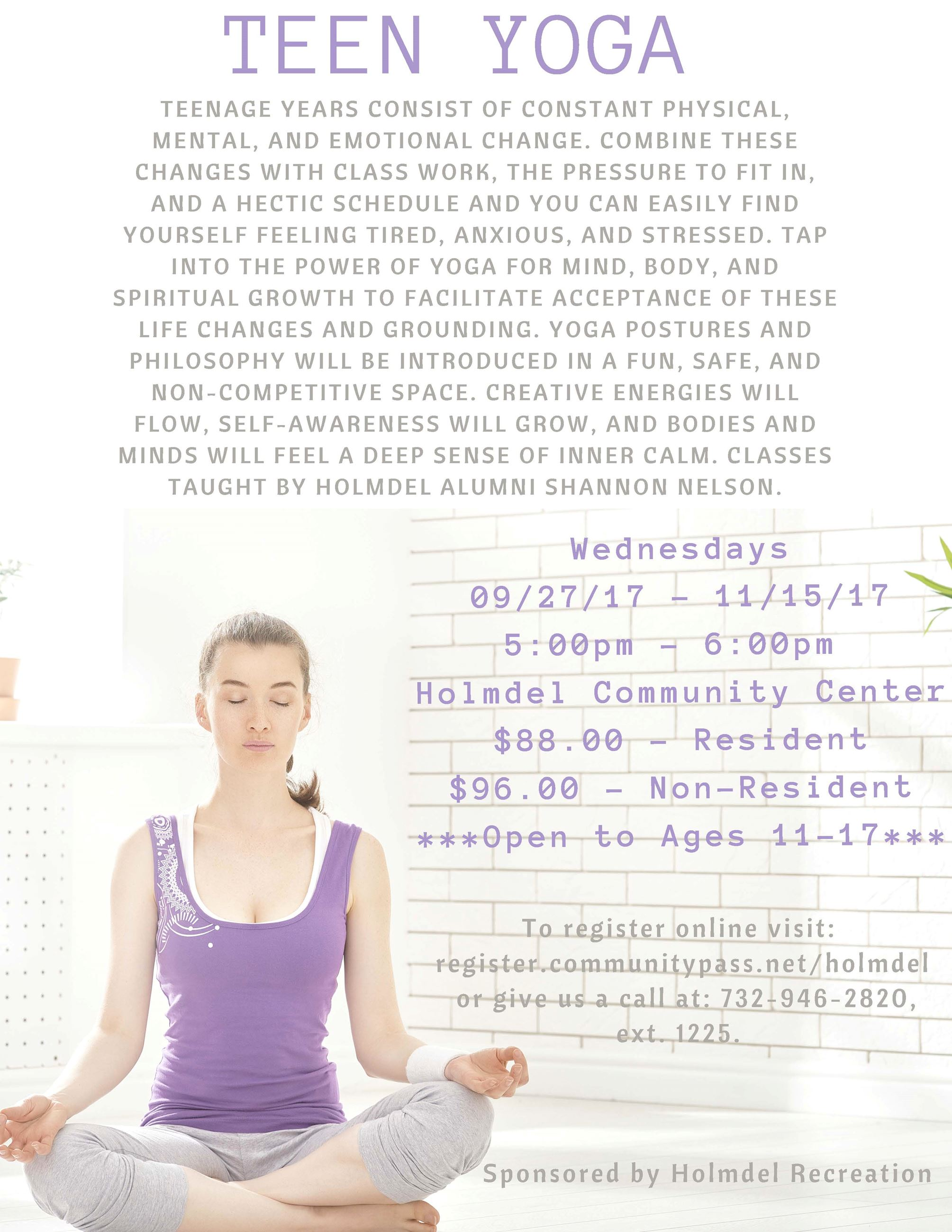 Teen Yoga-Fall 2017
